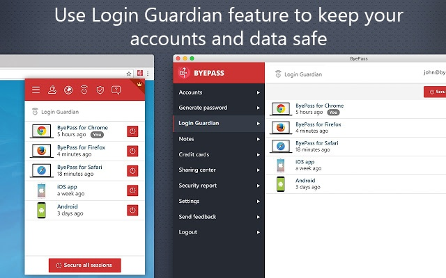 Use Login Guardian feature to keep your accounts and data safe