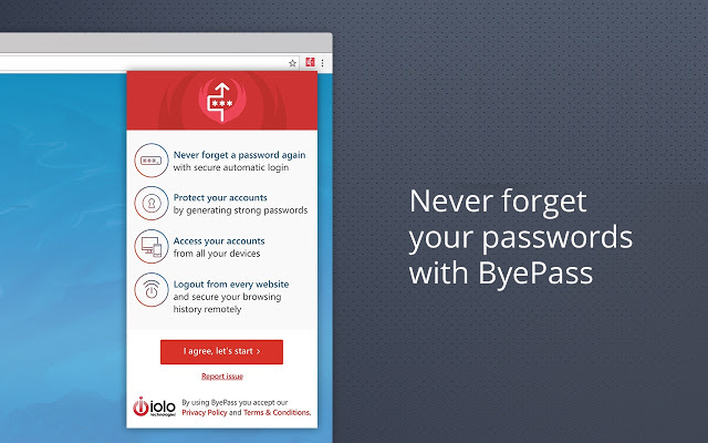Never forget your passwords with ByePass