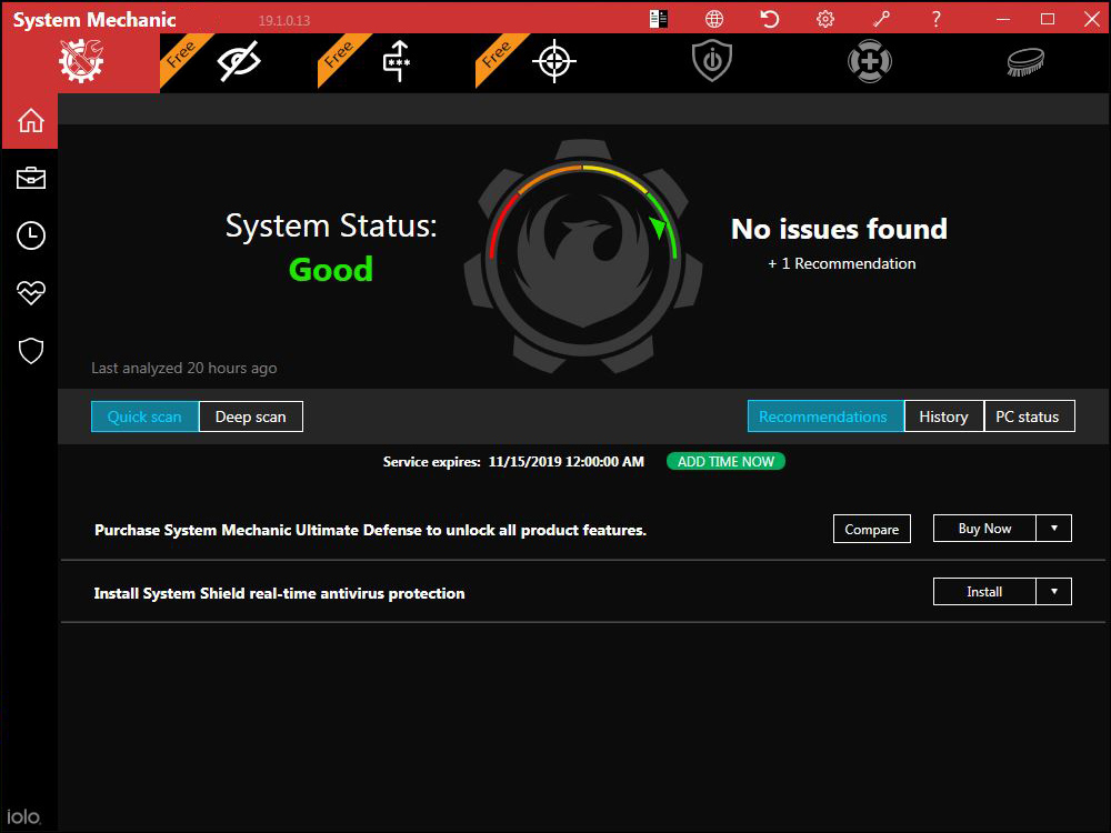 Toshiba Recommends System Mechanic Thank You Iolo Technologies